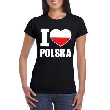 I love polen supporter shirt zwart dames