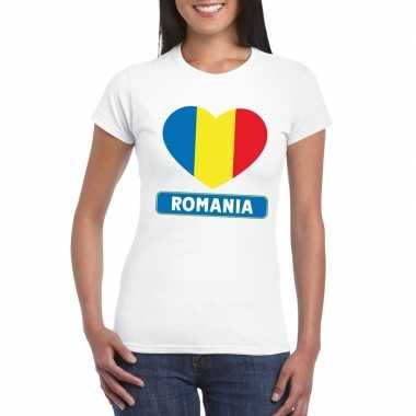 I love roemenie t-shirt wit dames