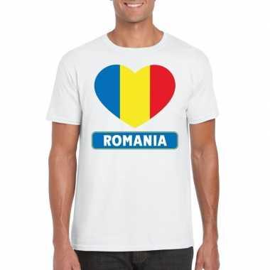 I love roemenie t-shirt wit heren