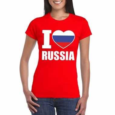 I love rusland supporter shirt rood dames