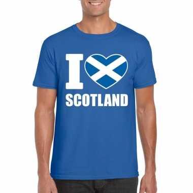 I love schotland supporter shirt blauw heren