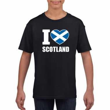I love schotland supporter shirt zwart jongens en meisjes