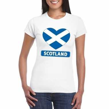 I love schotland t-shirt wit dames