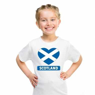 I love schotland t-shirt wit kinderen