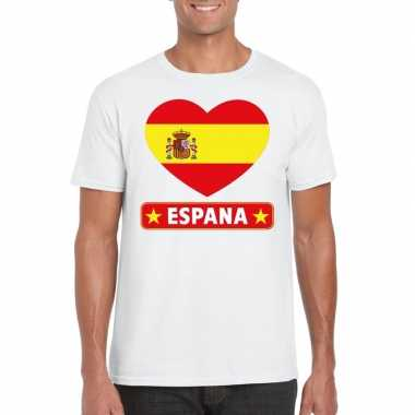 I love spanje t-shirt wit heren