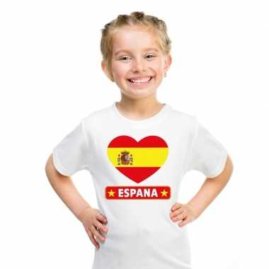 I love spanje t-shirt wit kinderen