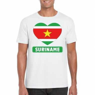 I love suriname t-shirt wit heren