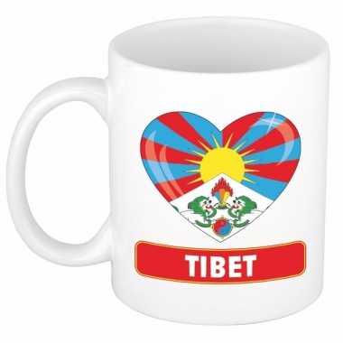 I love tibet mok / beker 300 ml