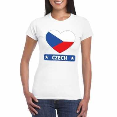 I love tsjechie t-shirt wit dames