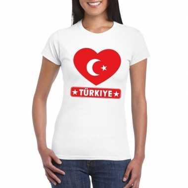 I love turkije t-shirt wit dames