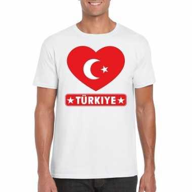 I love turkije t-shirt wit heren