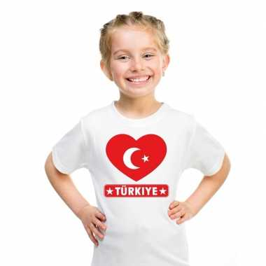 I love turkije t-shirt wit kinderen