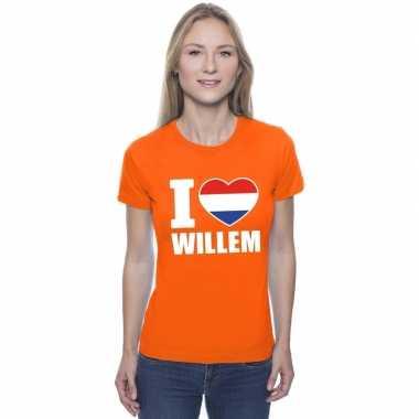 I love willem shirt oranje dames
