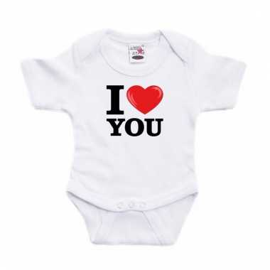 I love you rompertje wit babies