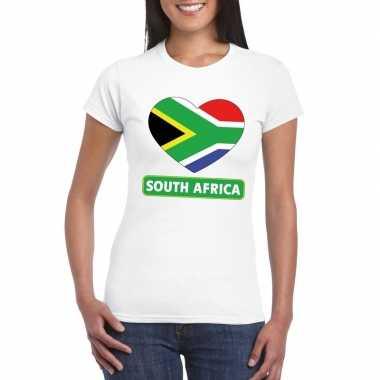 I love zuid afrika t-shirt wit dames