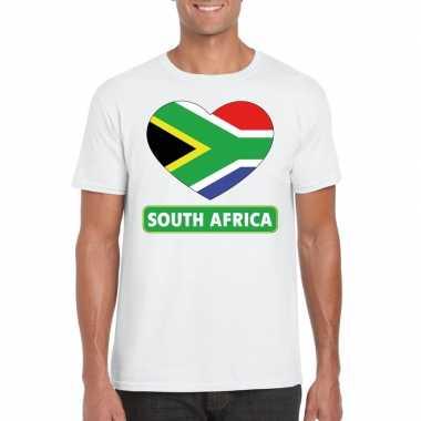 I love zuid afrika t-shirt wit heren