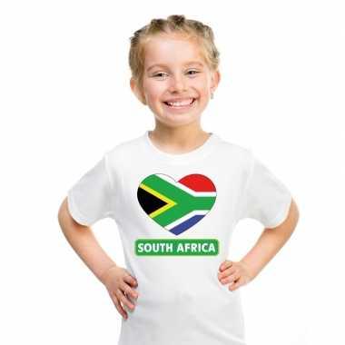 I love zuid afrika t-shirt wit kinderen
