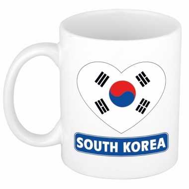 I love zuid korea mok / beker 300 ml