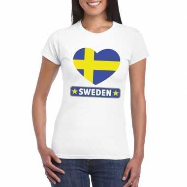 I love zweden t-shirt wit dames