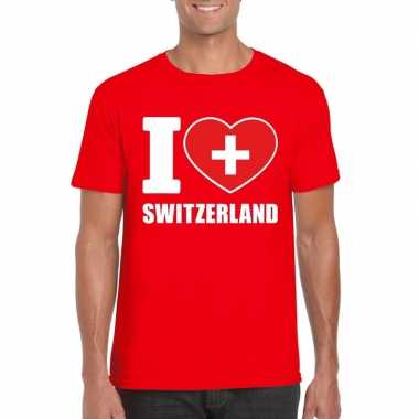 I love zwitserland supporter shirt rood heren