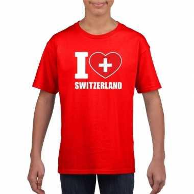 I love zwitserland supporter shirt rood jongens en meisjes