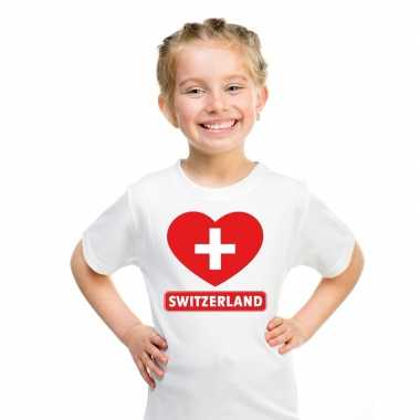 I love zwitserland t-shirt wit kinderen