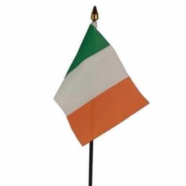 Ierland vlaggetje polyester