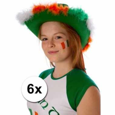 Ierse vlag tattoeages 6 stuks