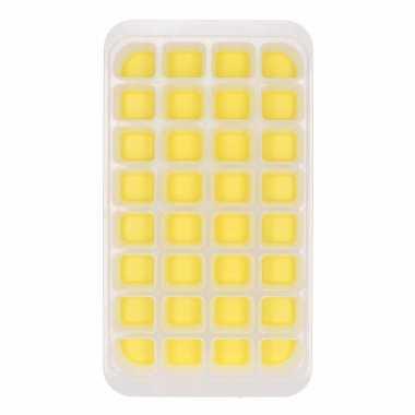 Ijsblokjes maken vorm geel