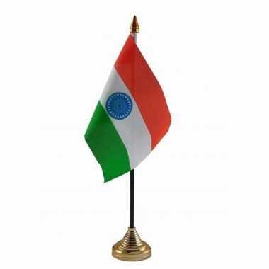 India versiering tafelvlag 10 x 15 cm