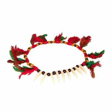 Indianen halsketting gekleurd