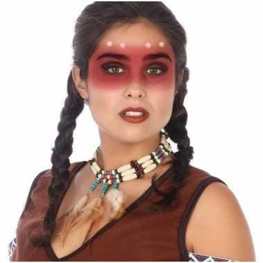 Indianen verkleed ketting voor volwassenen