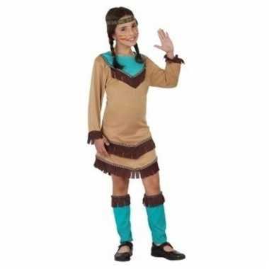 Indianen verkleedjurkje chinouk voor meisjes blauw