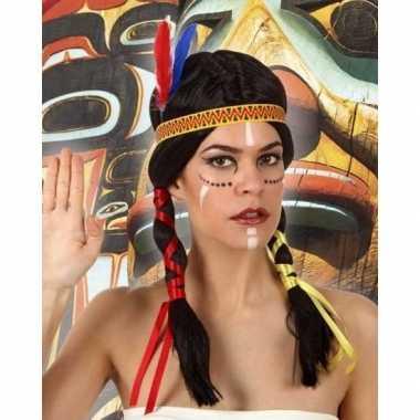 Indianen verkleedpruik dames