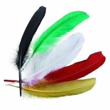 Indianenveren gekleurd 16cm