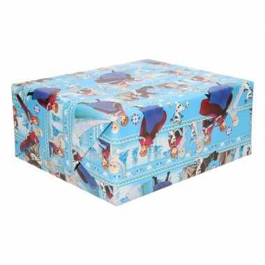 Inpakpapier/cadeaupapier disney frozen anna/elsa 200 x 70 cm