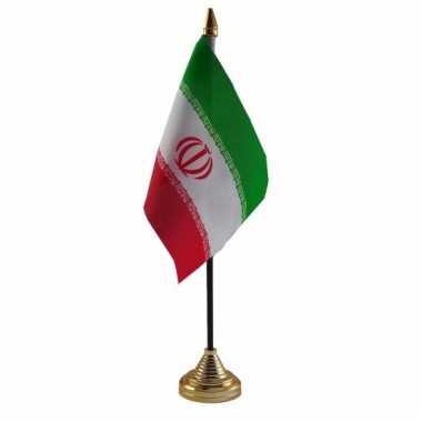 Iran versiering tafelvlag 10 x 15 cm