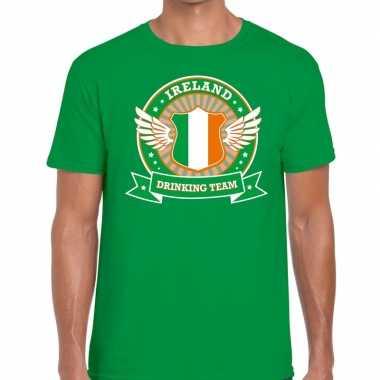 Ireland drinking team t-shirt groen heren