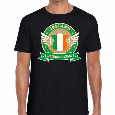 Ireland drinking team t-shirt zwart heren