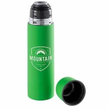 Isoleerfles/thermosfles groen 0.5 liter