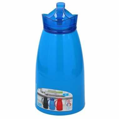 Isoleerkan/thermosfles blauw 1 liter