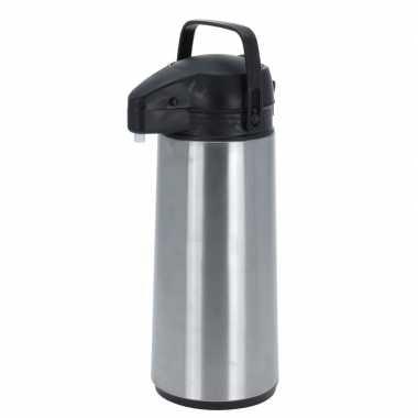 Isoleerkan/thermosfles met pomp rvs 1.8 liter
