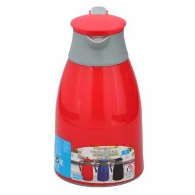 Isoleerkan/thermosfles rood 1 liter