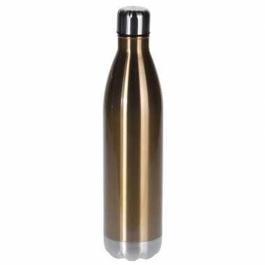 Isoleerkan/thermosfles rvs 1 liter goud