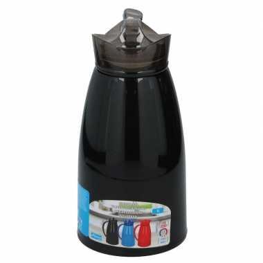 Isoleerkan/thermosfles zwart 1 liter