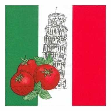 Italiaanse servetten 50 stuks