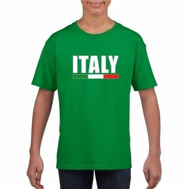 Italiaanse supporter t-shirt groen voor kinderen