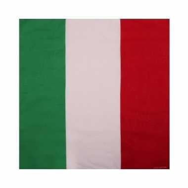 Italiaanse vlag bandana van katoen