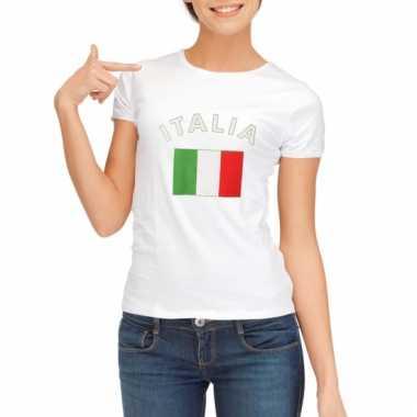 Italiaanse vlag t-shirt voor dames