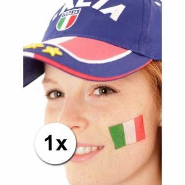 Italiaanse vlag tattoeage
